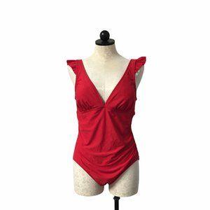 Kona Sol One Piece Red Swimsuit